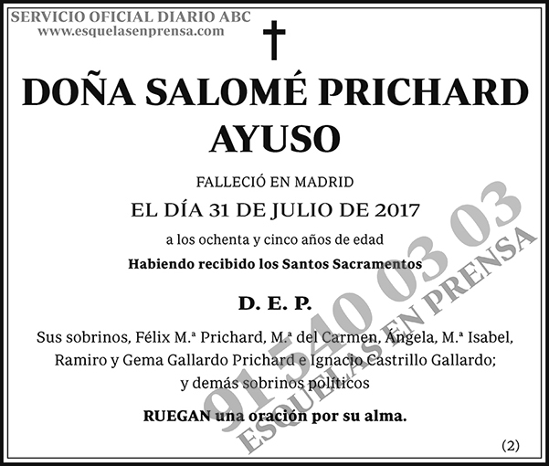 Salomé Prichard Ayuso